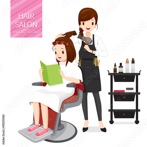 Relaxing Woman In Hair Salon, Facial, Skin, Treatment, Beauty, Cosmetic, Makeup, Healthy, Lifestyle