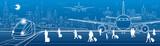 Airport panorama. Pa...
