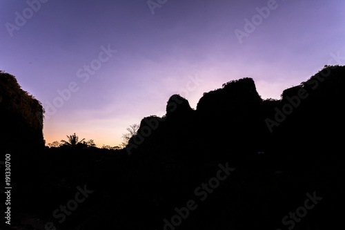 Fotobehang Zwart View of Rammang-Rammang, limestone forest in South Sulawesi Indonesia