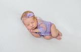 Beautiful newborn baby girl sleeping - 191333720