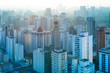 Quadro Panoramic view residential buildings at Sao Paulo, Brazil, South America