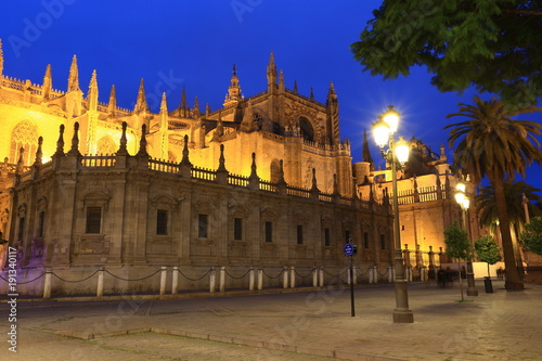 The Cathedral of Saint Mary of the See (Seville Cathedral) in Seville, Andalusia, Spain