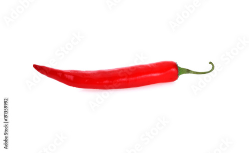 Foto op Aluminium Hot chili peppers Chili pepper isolated on white background