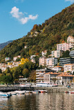 Harbor of Lago di Como in Lombardy, Italy. - 191364160