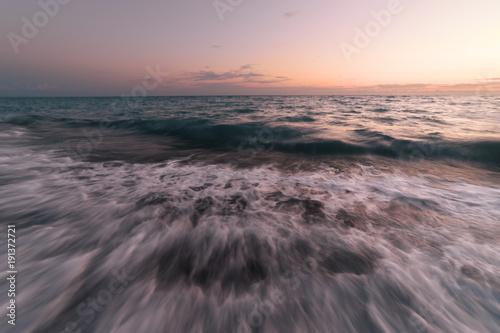 Foto op Aluminium Lavendel Sunset on the Black Sea in Abkhazia.