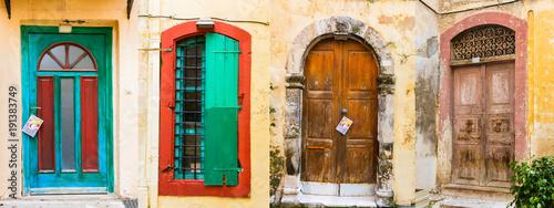 Plexiglas Freesurf Old wooden doors. (Frome Crete island, Greece)
