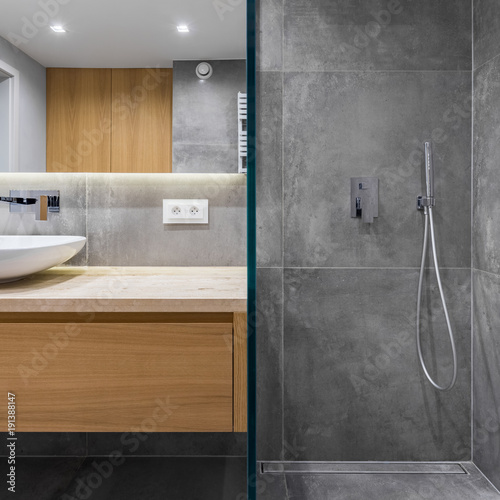 Bathroom with walk in shower