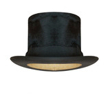 Black cylinder hat isolated on white background. - 191391987