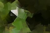 Hintergrund, Mosaik in grün und schwarz - 191395520