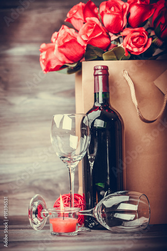 Wine and roses rustic