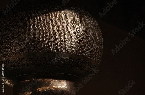 Aluminium Marokko Intricate details on a handcrafted lantern in Marrakech, Morocco