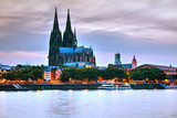 Cologne overview after sunset - 191398564