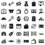 Hard cash icons set, simple style - 191401708