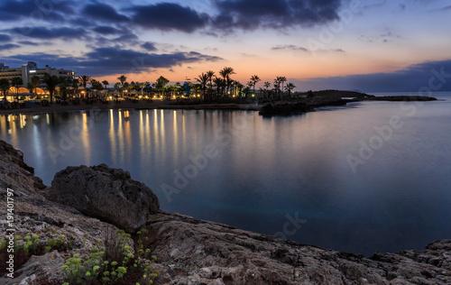 Staande foto Ochtendgloren Cyprus Blue hour