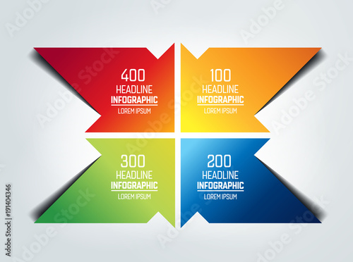 Four arrows  infographic, chart, scheme, diagram. - 191404346