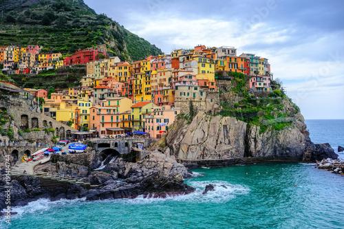 Foto op Canvas Liguria Manarola village, Cinque Terre, Italy