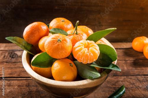 Delicious and beautiful mini Tangerines