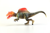 Shooting dinosaur isolated on white background, Animal concept.