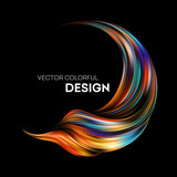 3d Abstract colorful fluid design. Vector illustration - 191423525