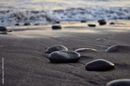 Foto op Aluminium Stenen in het Zand Rocas de mar