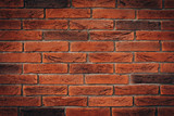 Red brick wall texture grunge background may use to interior design - 191447541