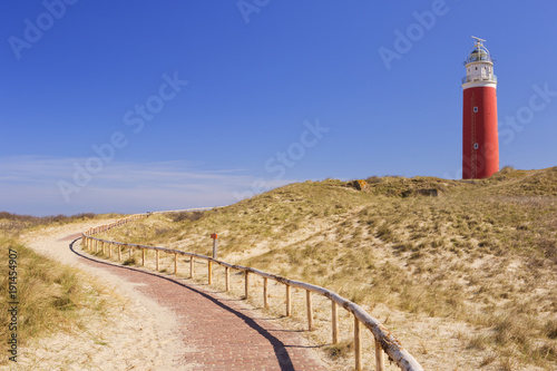 Fotobehang Vuurtoren Lighthouse on the island of Texel in The Netherlands