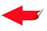 Roter Pfeil, Aufkleber, Sticker - 191455999