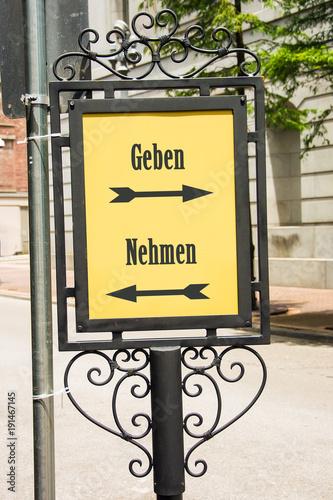 Schild 283 - Geben