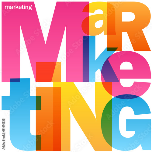 MARKETING Colourful Vector Letters Icon - 191470535