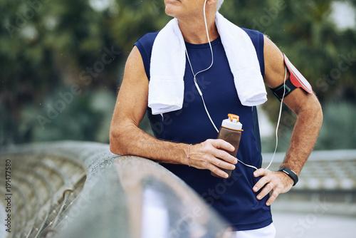 Fotobehang Hardlopen Sportsman