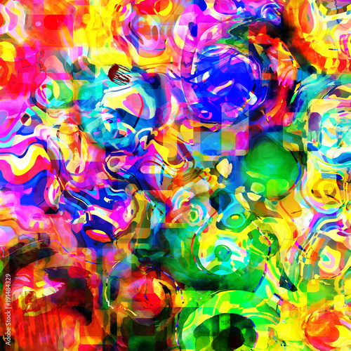 Multi Colored Funky Abstract