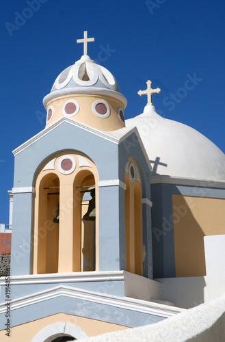 Fotobehang Santorini Grêce, Santorin, église