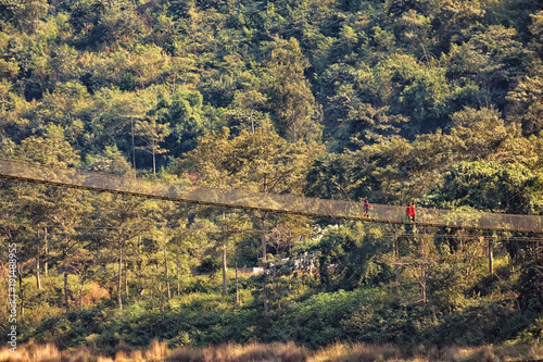 Suspension Bridge, Trishuli River, Nepal