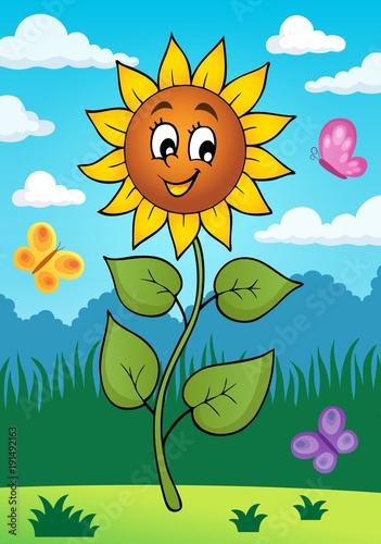 Aluminium Voor kinderen Happy sunflower theme image 2