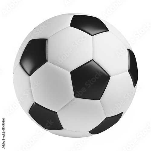 Deurstickers Bol soccer ball, 3d rendered illustration, clipping path included