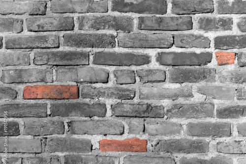 Foto op Plexiglas Baksteen muur Eine Mauer als Steintextur