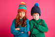 Leinwandbild Motiv Displeased angry little children