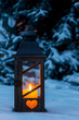 lantern for christmas in the snow - 191516908