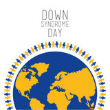 down syndrome day people around world symbol vector illustration - 191517337