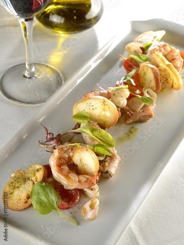 Fototapeta Mixed Sea Food plate