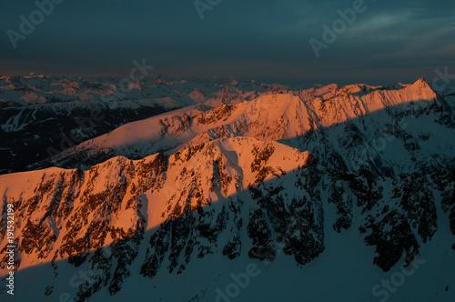 Staande foto Ochtendgloren Alpenglühen