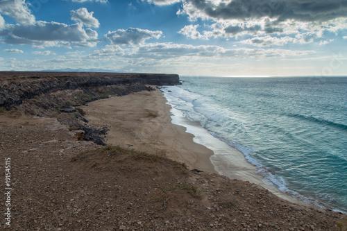 Foto op Canvas Donkergrijs Spiaggia El cotillo