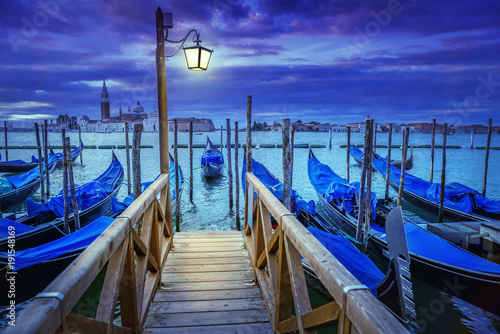 Foto op Canvas Venetie venice at night