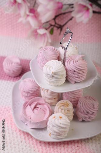 Plakat Sweet and tasty dessert, Russian marshmallow
