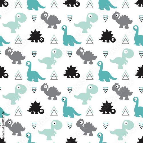obraz PCV seamless dinosaur pattern