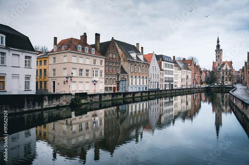 Tuinposter Brugge Bruges cityscape, Belgium