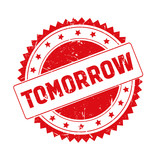 Tomorrow red grunge stamp isolated - 191570305