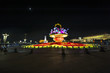 The big flower basket in the night for Chinese National Day