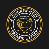 chicken - vector logo/icon illustration mascot - 191579377