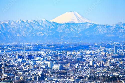 Foto op Plexiglas Tokio 富士山と東京